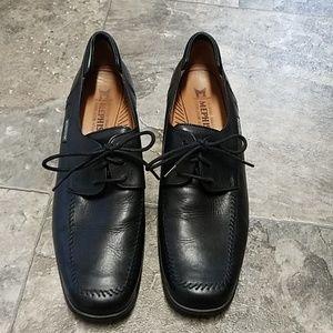 Mephisto Black Leather Walking/Dress Shoes 10